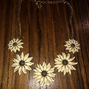 Kate Spade Gold Daisy Sunflower Necklace
